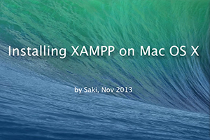 Installing XAMPP on Mac
